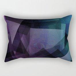 Vaporwave - Digital Geometric Texture Rectangular Pillow