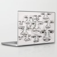 faces Laptop & iPad Skins featuring Faces by Stro