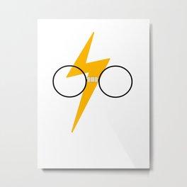 HP glasses, taped Metal Print