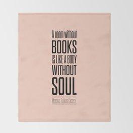 Lab No. 4 - Marcus Tullius Cicero Inspirational Quotes Poster Throw Blanket