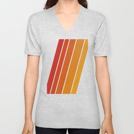 Retro 70s Stripes Unisex V-Neck