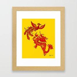 Phoenix Dragon Feng Shui Framed Art Print