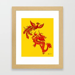 Phoenix Dragon Feng Shui Framed Art Print