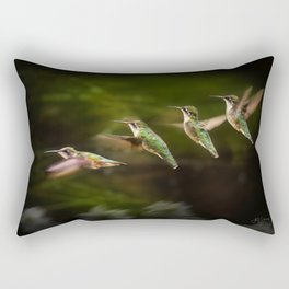 Humming Bird in Flight Rectangular Pillow