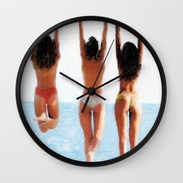 3 sur une branche Wall Clock