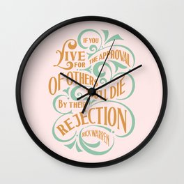 If You Live By People Expectation Wall Clock