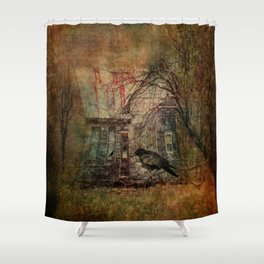 Courting Crow Shower Curtain