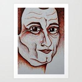 Visage 3 Art Print