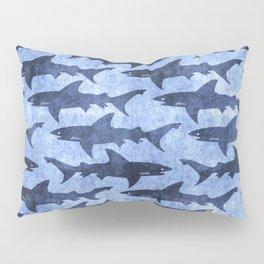 Blue Ocean Shark Pillow Sham