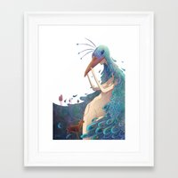 fairy Framed Art Prints featuring Fairy by Amandine Riera ( Dïne )