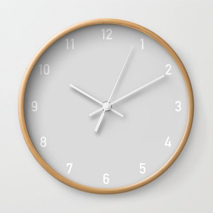 Numbers Clock - Silver Wall Clock