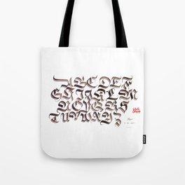 Double Trase Fraktur Schrift Tote Bag