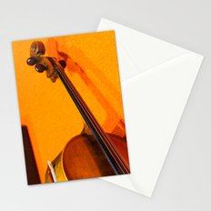 Violin on the Floor Stationery Cards