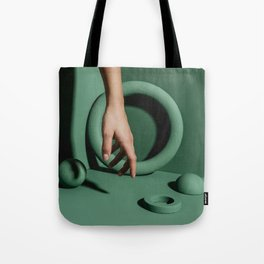 Green abstract background Tote Bag