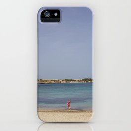 Red Into Blue iPhone Case