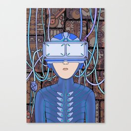 Player Over Canvas Print