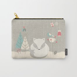Christmas baby fox 05 Carry-All Pouch