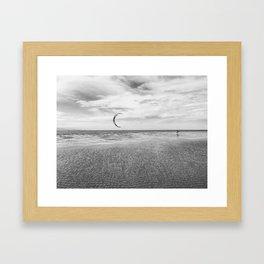 Kitesurfing, Chapin Beach, Cape Cod Framed Art Print