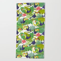 Toucan Paradise Pattern Beach Towel