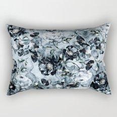 Black Flowers Rectangular Pillow