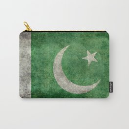 Flag of Pakistan in vintage style Carry-All Pouch