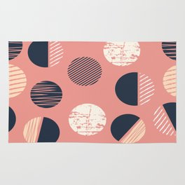 Abstract Circles In Pink Rug