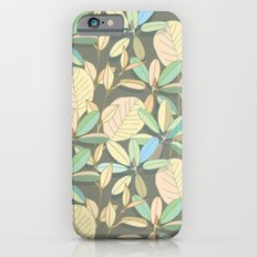 Leaf pattern | brown, pale yellow and green iPhone 6s Slim Case