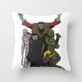 The Demonsterables (no text) Throw Pillow