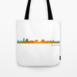 Jerusalem City Skyline Hq v1 Tote Bag