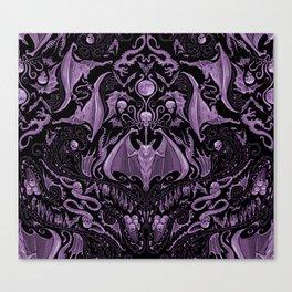 Bats and Beasts (Purple) Canvas Print