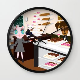 FASHIOINISTA CATS CUP CAKE Wall Clock