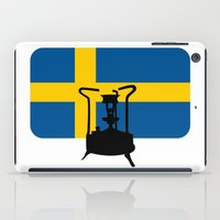 sweden iPad Cases featuring Sweden flag | Pressure stove by mailboxdisco