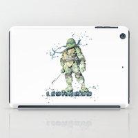 teenage mutant ninja turtles iPad Cases featuring Leonardo Teenage Mutant Ninja Turtles by Carma Zoe