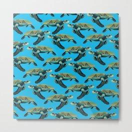 The Hawksbill Turtle Metal Print