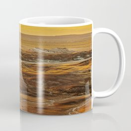 Glowing sunset landscape of Petrified Forest National Park Coffee Mug