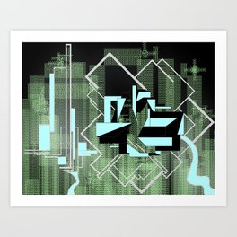 FUTURE FORMS OF EARTH (an adventure in living-architecture) Art Print
