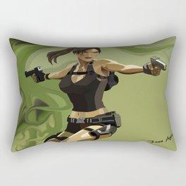 Lara Croft Rectangular Pillow