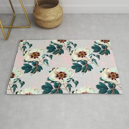 Flowery blooming with geometric Rug