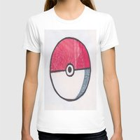 pokeball T-shirts featuring Pokeball Zentangle by Amanda Brooks