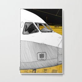 asc 698 - Le tarmac la nuit (Your flight was delayed due to technical problems) Metal Print