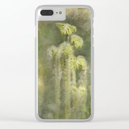 Fiddle Head Clear iPhone Case