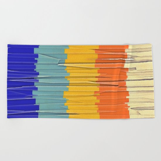 Shredded Stripes Beach Towel