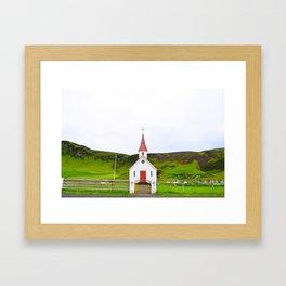 Iceland is Green Framed Art Print