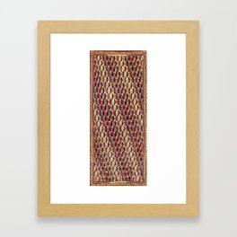 Sehna Kurdish Northwest Persian Rug Framed Art Print
