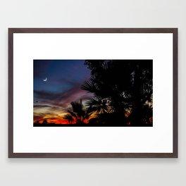 Sunset Greets the Moon Framed Art Print