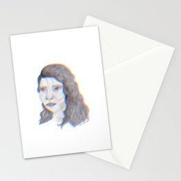 """SERIOUS - pencil illustration """"screen print"""" Stationery Cards"""