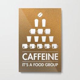 Caffeine: Typography Metal Print