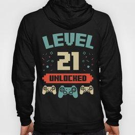 Level 21 Unlocked 21st Birthday Present Hoody
