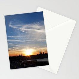 Stockholm sunset Stationery Cards