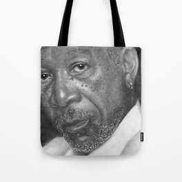 Morgan Freeman Traditional Portrait Print Tote Bag